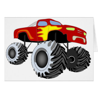 Monster Truck Greeting Card