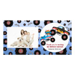 Monster Truck Kids Boy Thank You Photo Cards