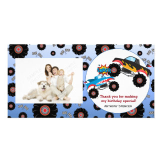 Monster Truck Kids Boy Thank You Photo Cards