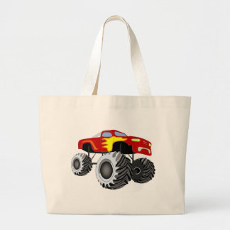 Monster Truck Large Tote Bag