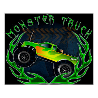 Monster truck poster