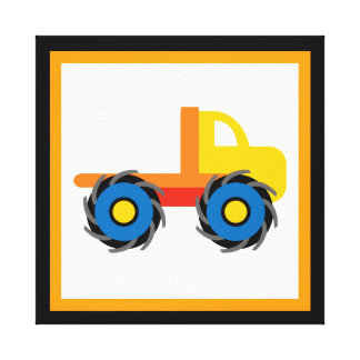 Monster Truck Wrapped Canvas Wall Decor for Kids Canvas Prints