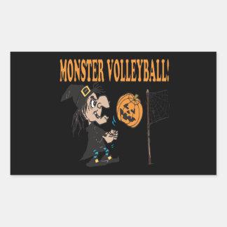 Monster Volleyball Rectangular Sticker