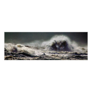 Monster Wave Ocean City Panorama Photo Print