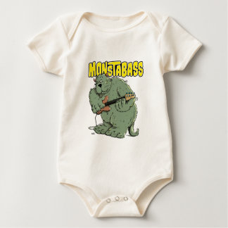 Monster with Bassguitar Baby Bodysuit