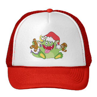 Monster with Gingerbread Man Mesh Hats