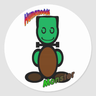 Monster (with logos) classic round sticker