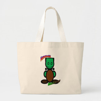 Monster (with logos) large tote bag