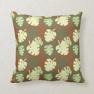Monstera deliciosa cushion