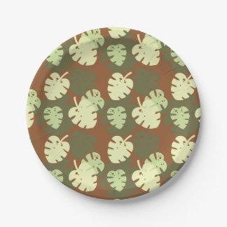 Monstera deliciosa paper plate