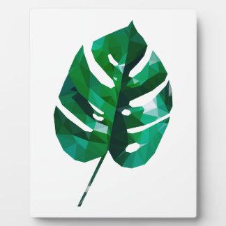 Monstera Leaf Design Plaque