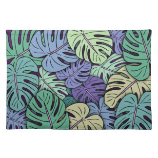 Monstera Leaves #6 Placemat