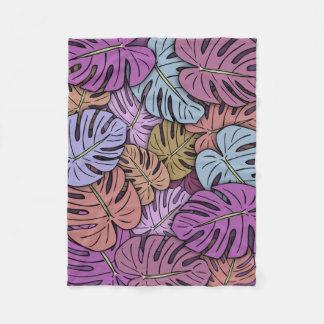 Monstera Leaves #8 Fleece Blanket