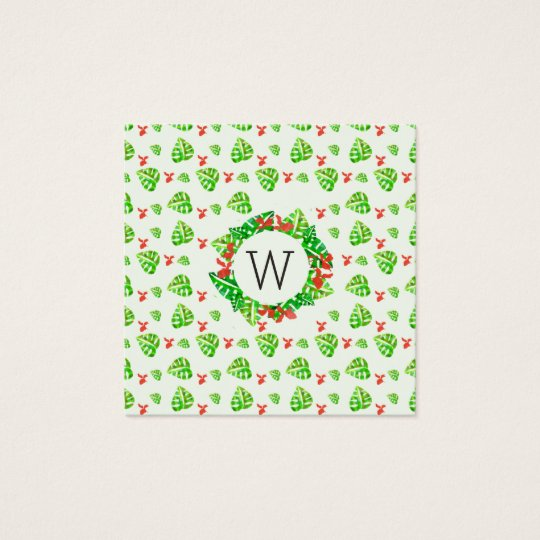 Monstera Palm Tropical Elegant Repeat Pattern Square Business