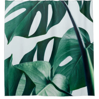 Monstera Shower Curtain