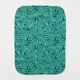 Monstera Tropical Leaf Pattern Burp Cloths