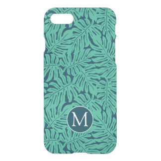 Monstera Tropical Leaf Pattern | Monogram iPhone 8/7 Case