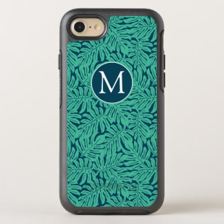 Monstera Tropical Leaf Pattern | Monogram OtterBox Symmetry iPhone 8/7 Case