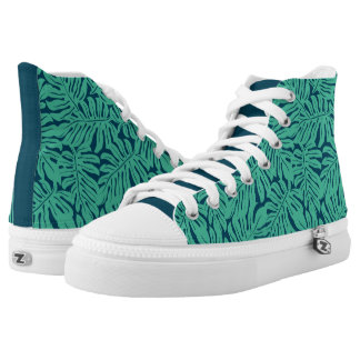 Monstera Tropical Leaf Pattern Printed Shoes