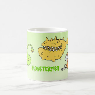 monsterfish mug.. basic white mug