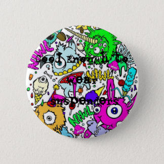 monsters-1, Cool Enough to wear suspenders 6 Cm Round Badge
