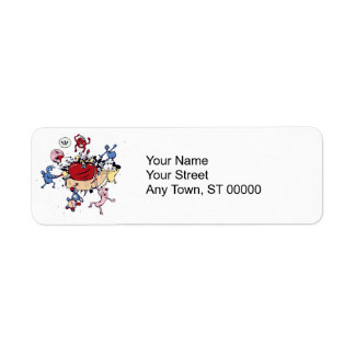 monsters attack of the heart anti love vector return address label
