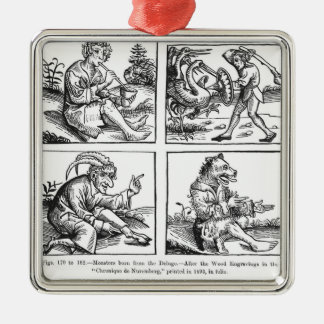 Monsters born from the Deluge Silver-Colored Square Decoration