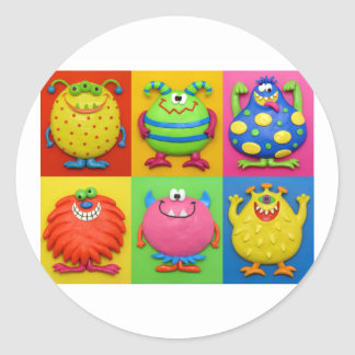 Monsters Classic Round Sticker
