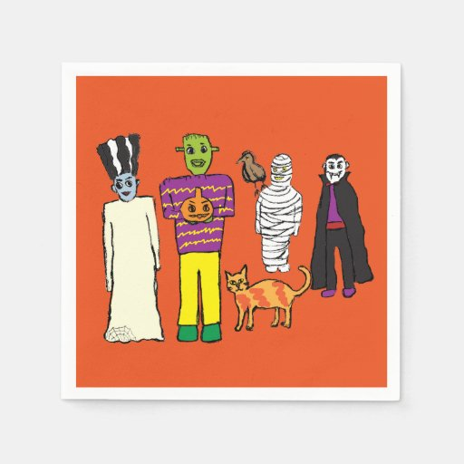 Monsters Colour Halloween Party Napkin