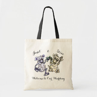 Monsters-Customizable Wedding Party Favor Tote Bag