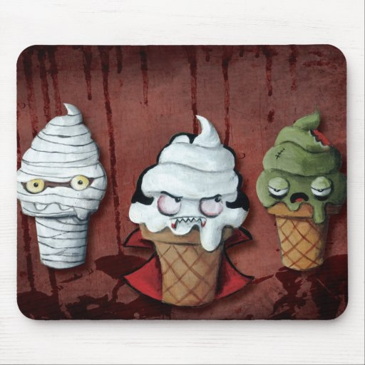 Monsters Halloween Team! Mouse Pads