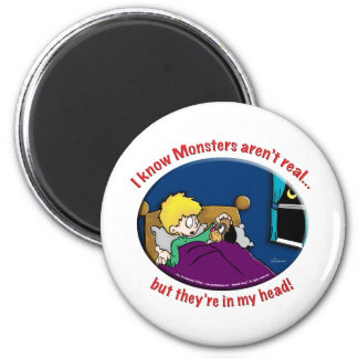 Monsters in my head 6 cm round magnet