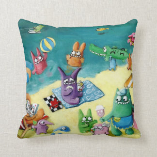 Monsters on the Beach Cushion