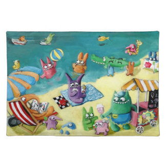 Monsters on the Beach Placemat