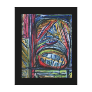 """Monster's Pain"" Abstract Print by ValAries Stretched Canvas Prints"