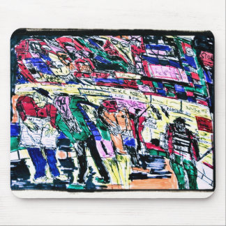 monsters stock market mouse pad