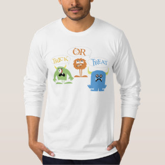 Monsters Trick-or-Treat T-shirt Long Sleeve