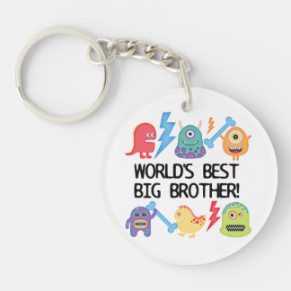 Monsters World Best Big Brother Single-Sided Round Acrylic Key Ring
