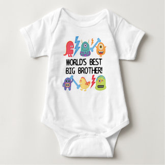 Monsters World's Best Big Brother Baby Bodysuit