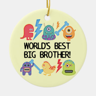 Monsters World's Best Big Brother Christmas Ornament