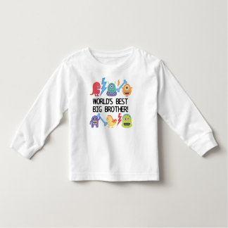 Monsters World's Best Big Brother Toddler T-Shirt