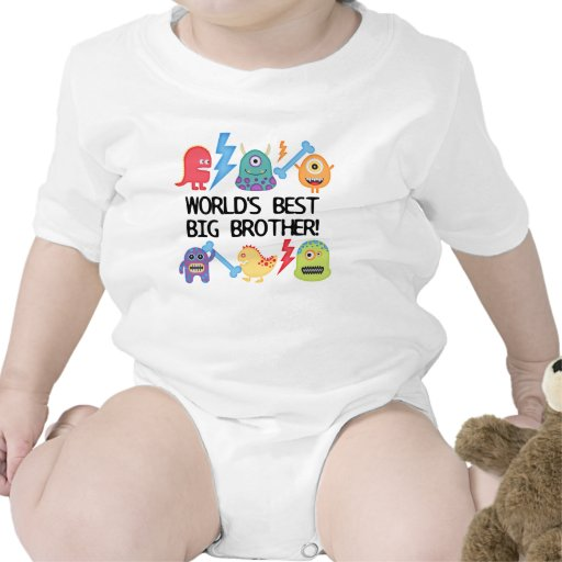 Monsters World's Best Big Brother Bodysuits
