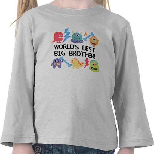 Monsters World's Best Big Brother T Shirts