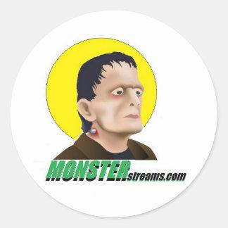 MonsterStreams.com Round Stickers