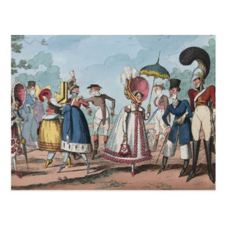 Monstrosities of 1818 Painting Postcard