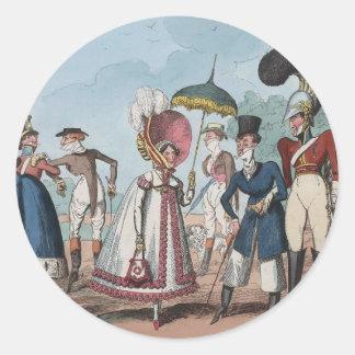 Monstrosities of 1818 Painting Round Sticker