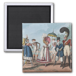 Monstrosities of 1818 Painting Square Magnet