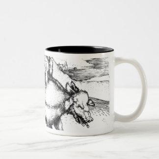 Monstrous Pig Two-Tone Coffee Mug