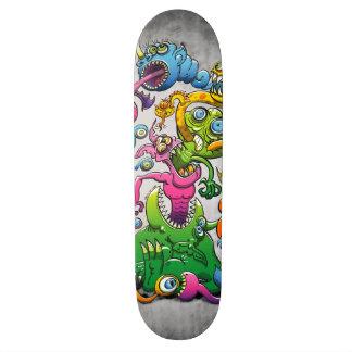 Monstrously Messy Custom Skate Board