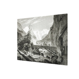 Mont Blanc from the Baths of St. Didier Canvas Print